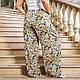Летние женские штаны свободного кроя с цветочным принтом, фото 6