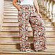 Летние женские штаны свободного кроя с цветочным принтом, фото 8