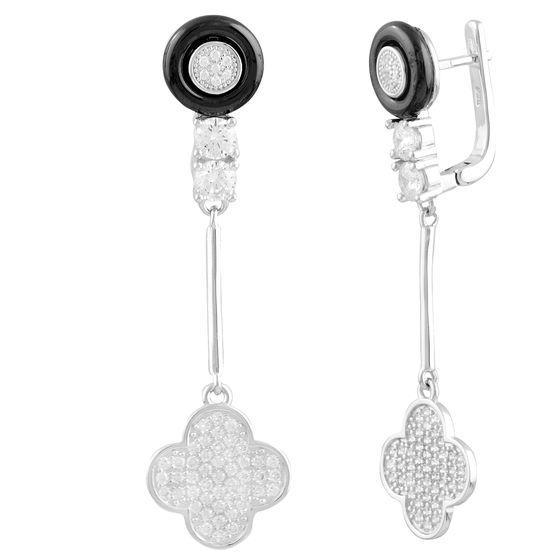 Срібні сережки MioDio з керамікою (1577387)
