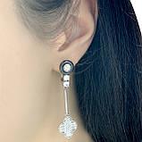 Срібні сережки MioDio з керамікою (1577387), фото 3