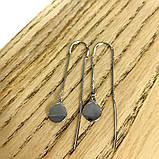 Срібні сережки MioDio без каменів (1584033), фото 3