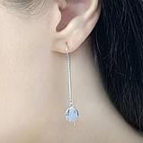 Срібні сережки MioDio без каменів (1584033), фото 4