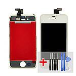 Дисплей для Apple iPhone 4 с белым тачскрином HC