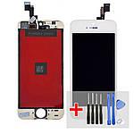 Дисплей для Apple iPhone 5S с белым тачскрином HC