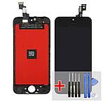 Дисплей для Apple iPhone 5S с чёрным тачскрином HC