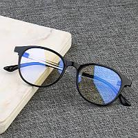 Очки для компьютера защитные NewGlass CF компьютерные очки универсальные круглые черные Б/у