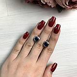 Срібні сережки MioDio з сапфіром nano 2.888 ct (2033097), фото 2