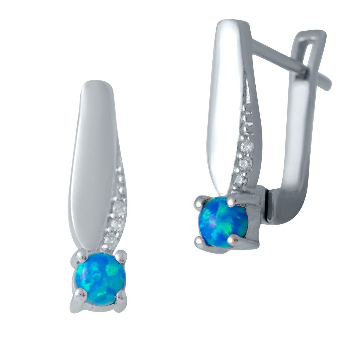 Срібні сережки MioDio з опалом (2034698)