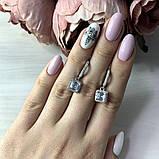 Срібні сережки MioDio з фіанітами (2036357), фото 2