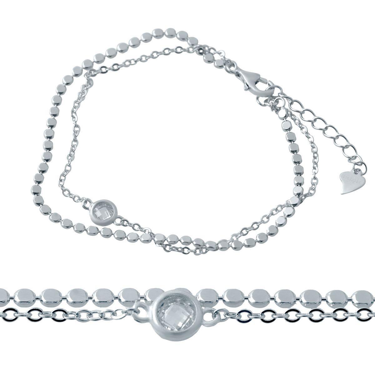 Срібний браслет MioDio з фіанітами (2036944) 1720 розмір