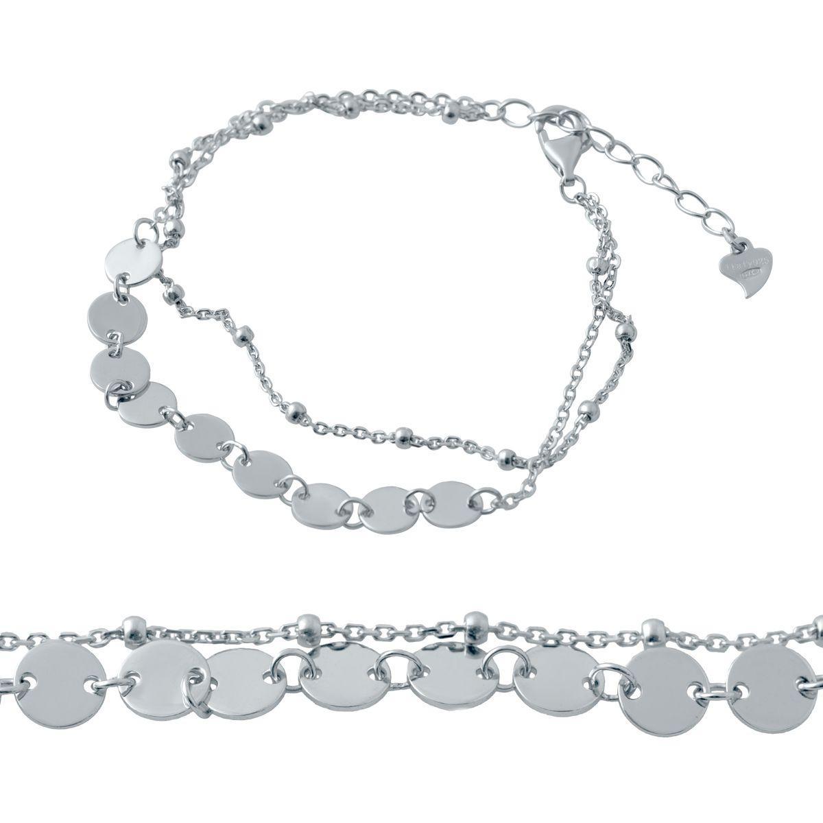 Срібний браслет MioDio без каменів (2037156) 1720 розмір