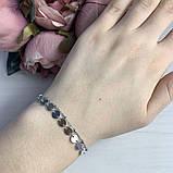 Срібний браслет MioDio без каменів (2037156) 1720 розмір, фото 3