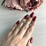 Срібні сережки MioDio з фіанітами (2037903), фото 2