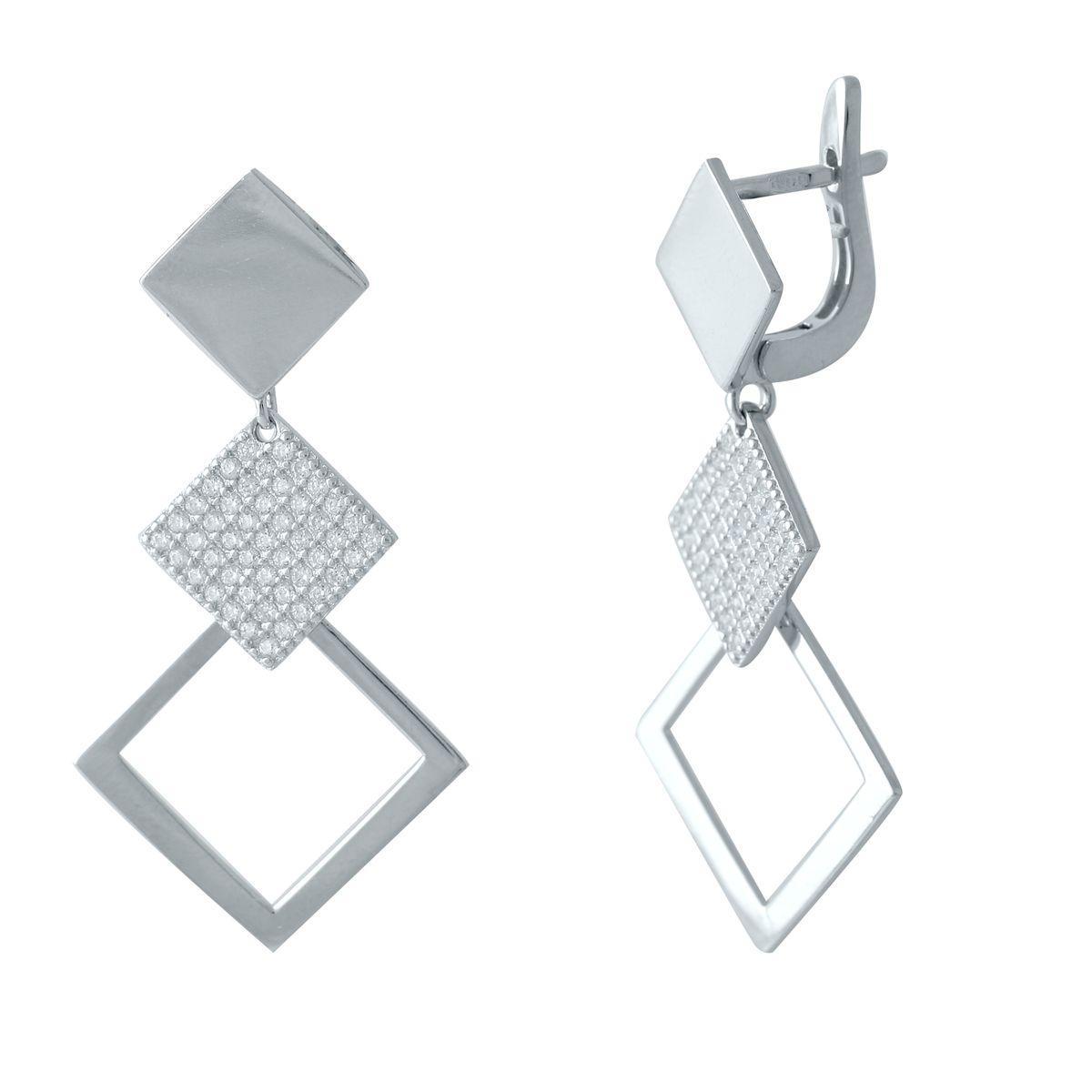 Серебряные серьги MioDio с фианитами (2038788)