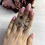 Серебряные серьги MioDio с фианитами (2038788), фото 2