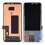 Дисплейний модуль (екран) для Samsung G950 Galaxy S8 з чорним тачскріном Original (переклееное скло)