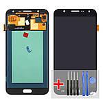 Дисплейний модуль (екран) для Samsung J700 Galaxy J7 з чорним тачскріном OLED
