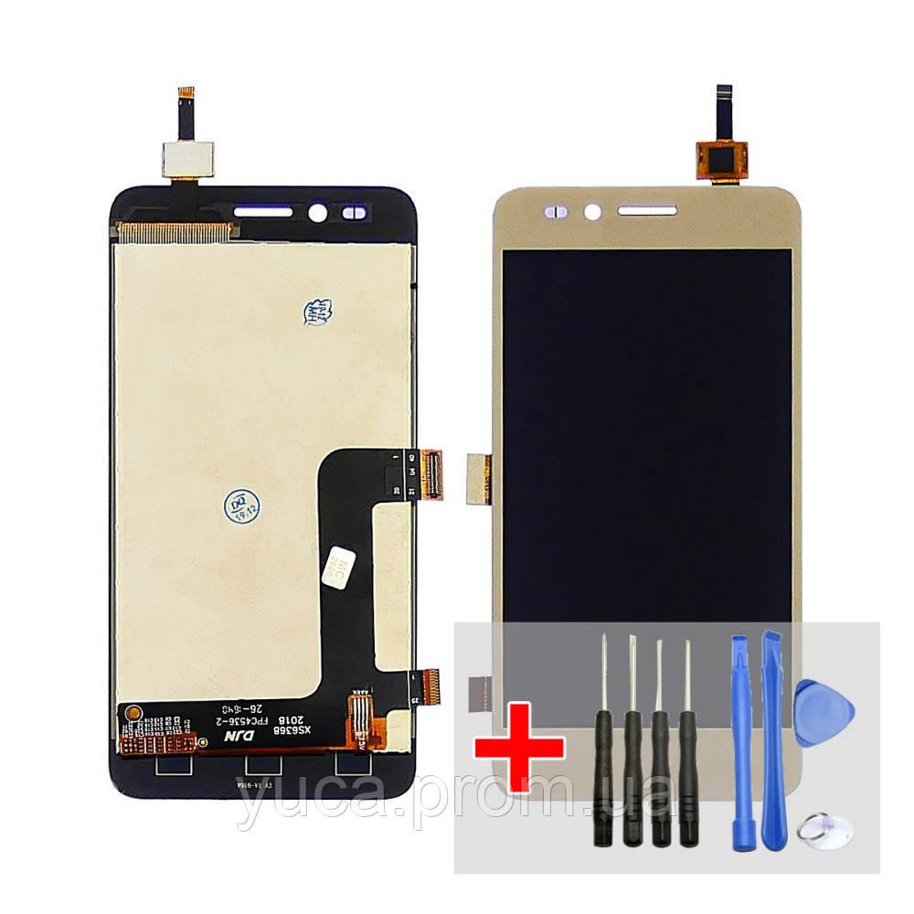 Дисплей для HUAWEI Y3 II (4G) з золотистим тачскріном