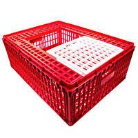 Маленький ящик для перевозки птицы с раздвижной верхней дверкой 77х57х28, фото 1