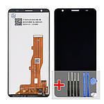 Дисплейний модуль (екран) для ZTE Blade A3/L8 (2020) з чорним тачскріном