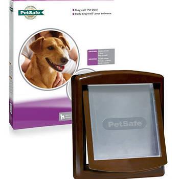 Дверцы Staywell для котов и собак средних пород, коричневый, 352х294 мм