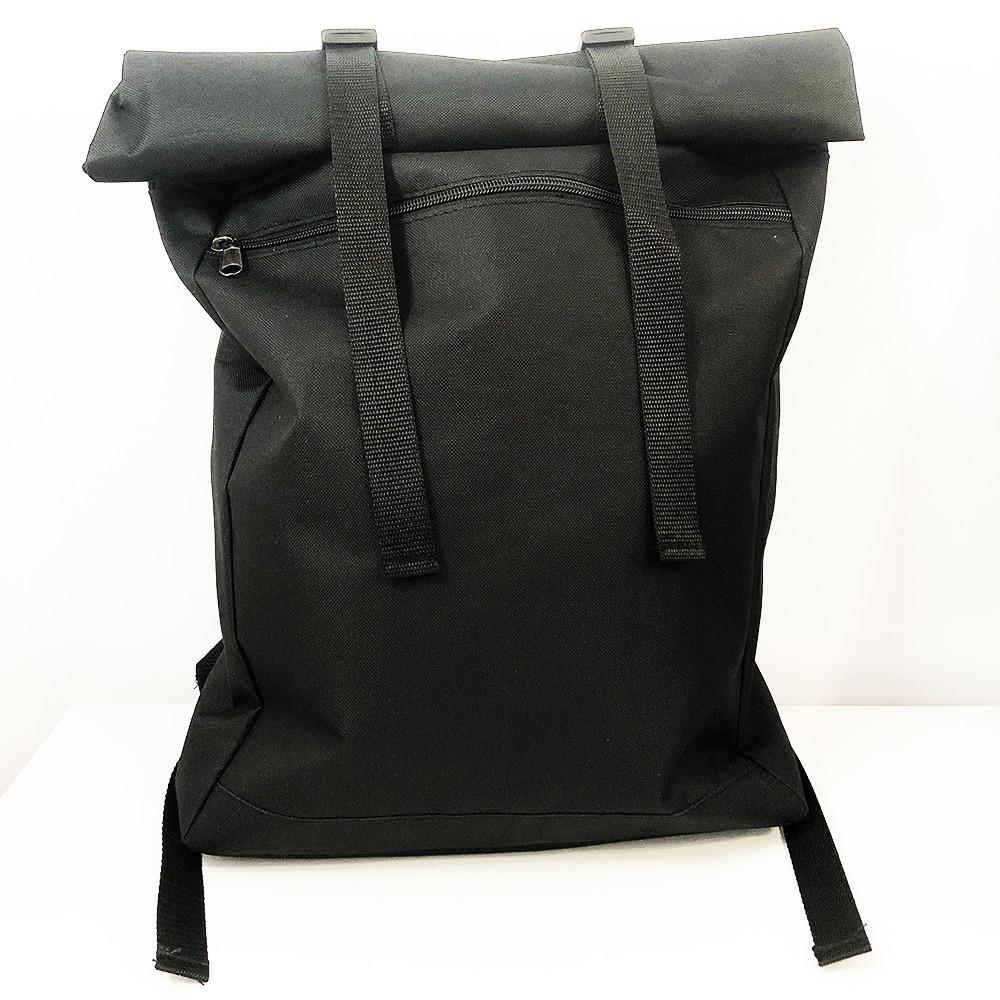 Рюкзак рол-топ з тканини. Колір: чорний