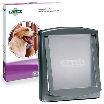 Дверцы Staywell для собак крупных пород, серый, 456х386 мм