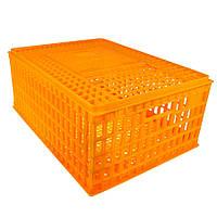 Маленький ящик для перевезення птиці з розсувними верхній дверкою 75x55x33, фото 1