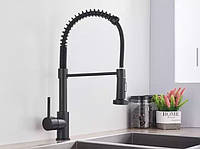 Смеситель кухонный SANTEP 678-78 KRF Черный матовый