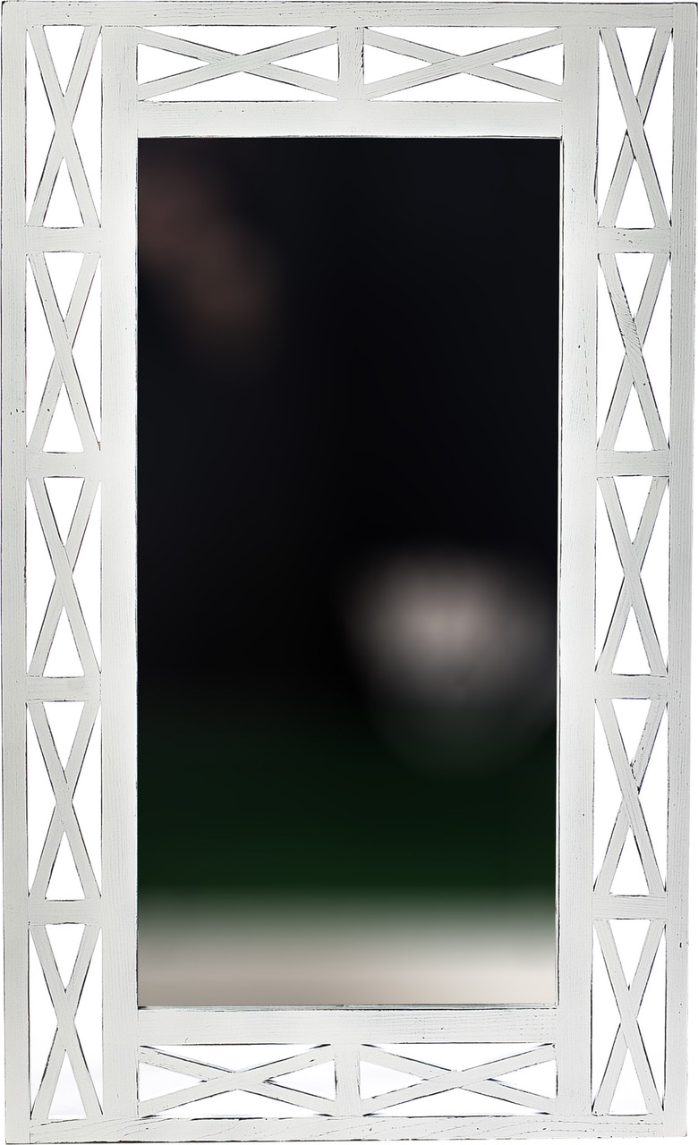 "Дзеркало настінне ДРЕВОДЕЛЯ ""Версаль"" 110х67х1,5см Біла патина (070201)"