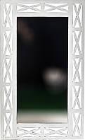 """Дзеркало настінне ДРЕВОДЕЛЯ """"Версаль"""" 110х67х1,5см Біла патина (070201), фото 1"""