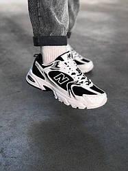 New Balance 530 White Black (Топ якість) Весна,  Чоловічі Кросівки, Мужская обувь
