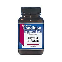 Комплекс витаминов для щитовидной железы, 90 капсул, Thyroid Essentials, Swanson