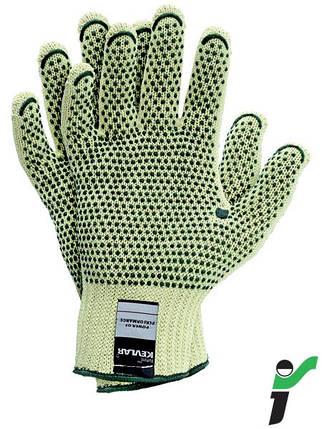 Перчатки защитные трикотажные с односторонним напылением RJ-KEVLARDOT YZ, фото 2
