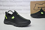 Підліткові дихаючі кросівки сітка чорні без шнурка Restime, фото 4
