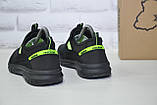 Підліткові дихаючі кросівки сітка чорні без шнурка Restime, фото 5
