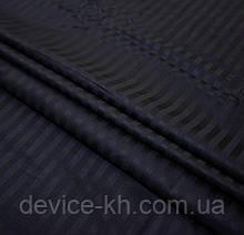 Качественное постельное бельё из 100%  хлопка 1,5 полуторный Чёрный