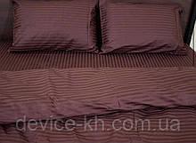 Качественное постельное бельё из 100%  хлопка 1,5 полуторный Кофейный