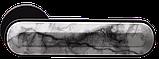 Дверные ручки MVM Z-1804 Black - мрамор белый, фото 2