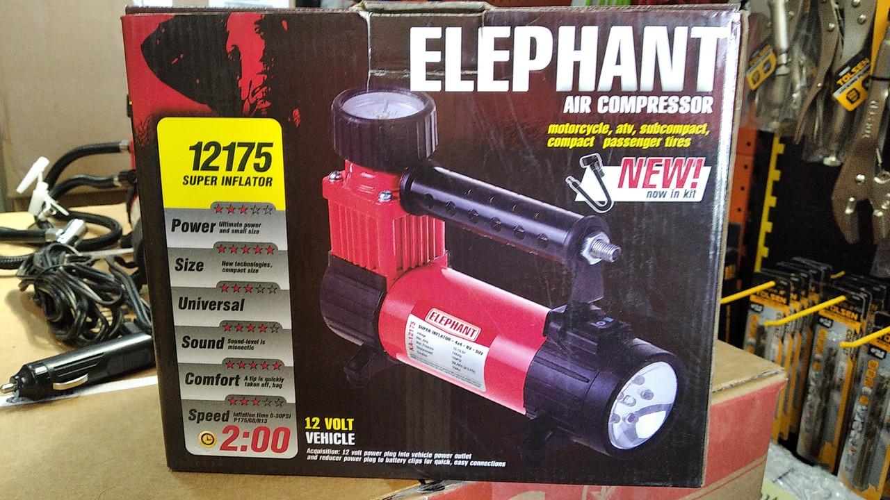Компресор ELEPHANT КА -12175 / прикурювач