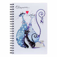 Тетрадь А4 120 листов клетка спираль с разделителями пластиковая обложка Glamour cats YES №681761
