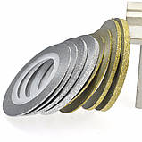 Цукрова нитка для нігтів в рулоні, золото =2мм, фото 2
