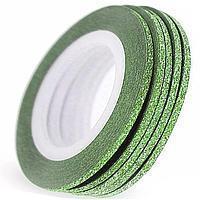 Цукрова нитка для нігтів в рулоні, зелена =3мм