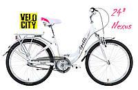 Spelli City 24 Nexus белый подростковый велосипед для девочки , фото 1
