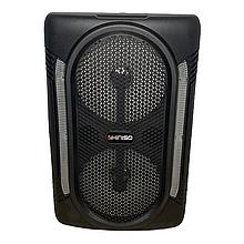 Супермощная 2000 W Колонка портативная акустическая KIMISO QS-7601 с проводным микрофоном блютуз колонка