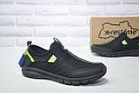 Чоловічі кросівки сітка без шнурка чорні Restime, фото 4