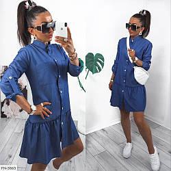 Джинсове плаття-сорочка (Батал)