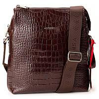 Чоловіча сумка Eminsa 6142-4-3 коричнева шкіряна