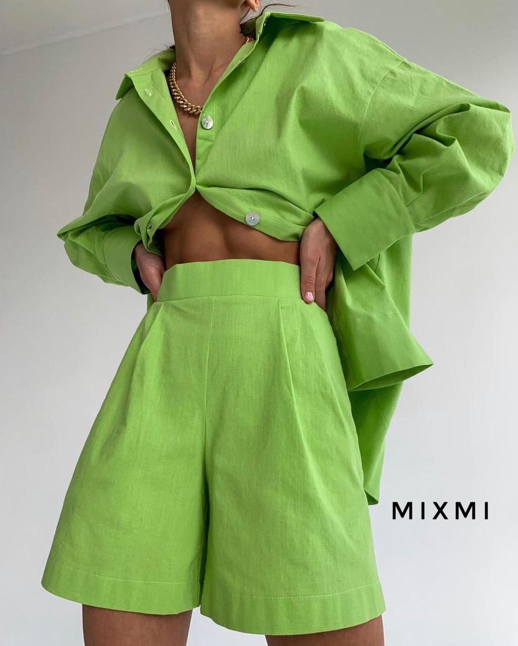 Жіночий костюм, штапель, р-р 42-44; 44-46 (зелений)