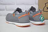 Сірі кросівки сітка без шнурка, великі розміри Restime, фото 3